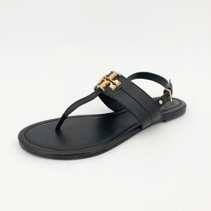 Tory Burch Everly Sandal Thong Strappy Buckle Flat